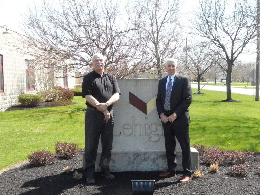Lehigh Construction Buffalo headquarters in Orchard Park with Dave Knauss and Tom Glomb.