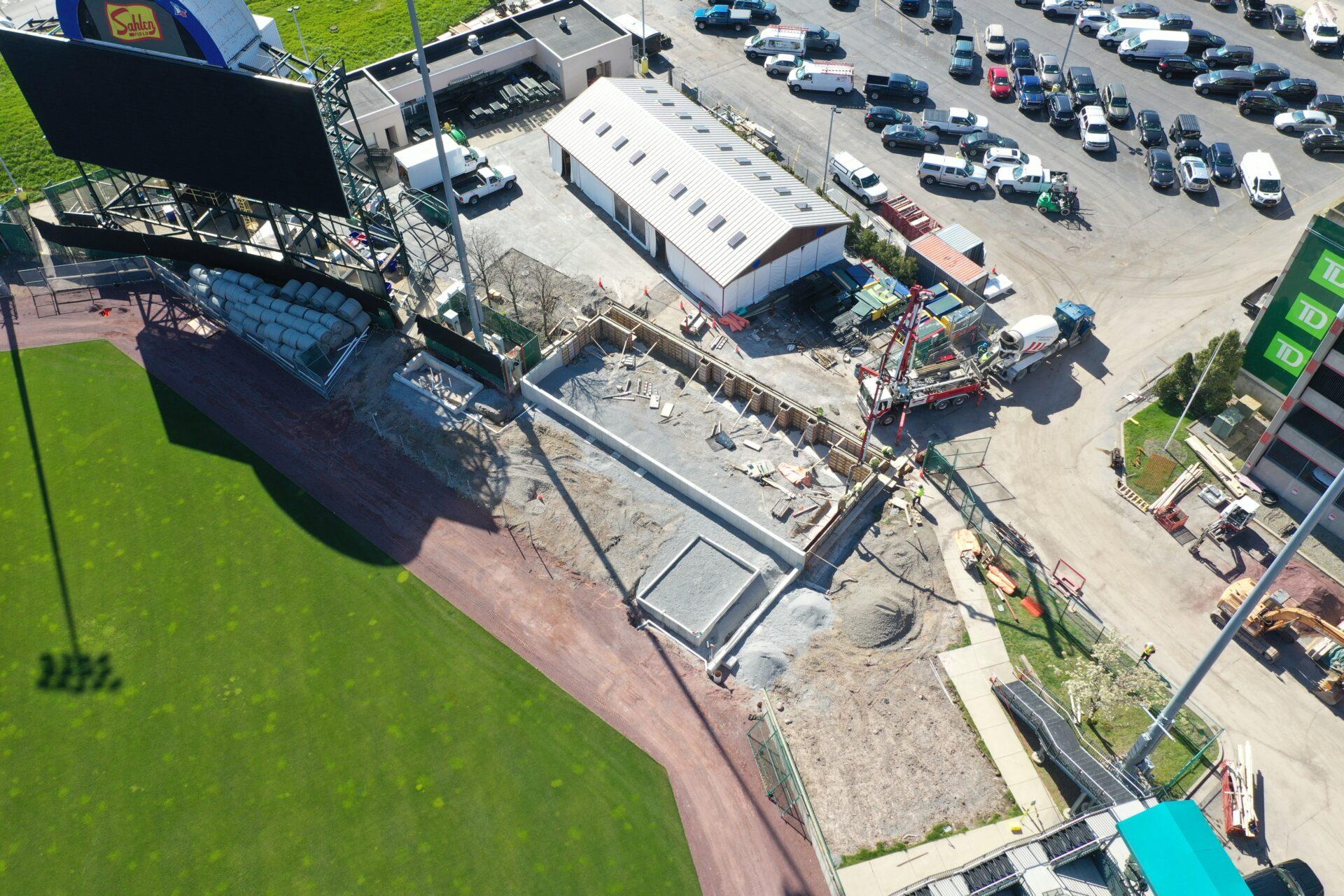 Sahlen Field Bullpens Under Construction