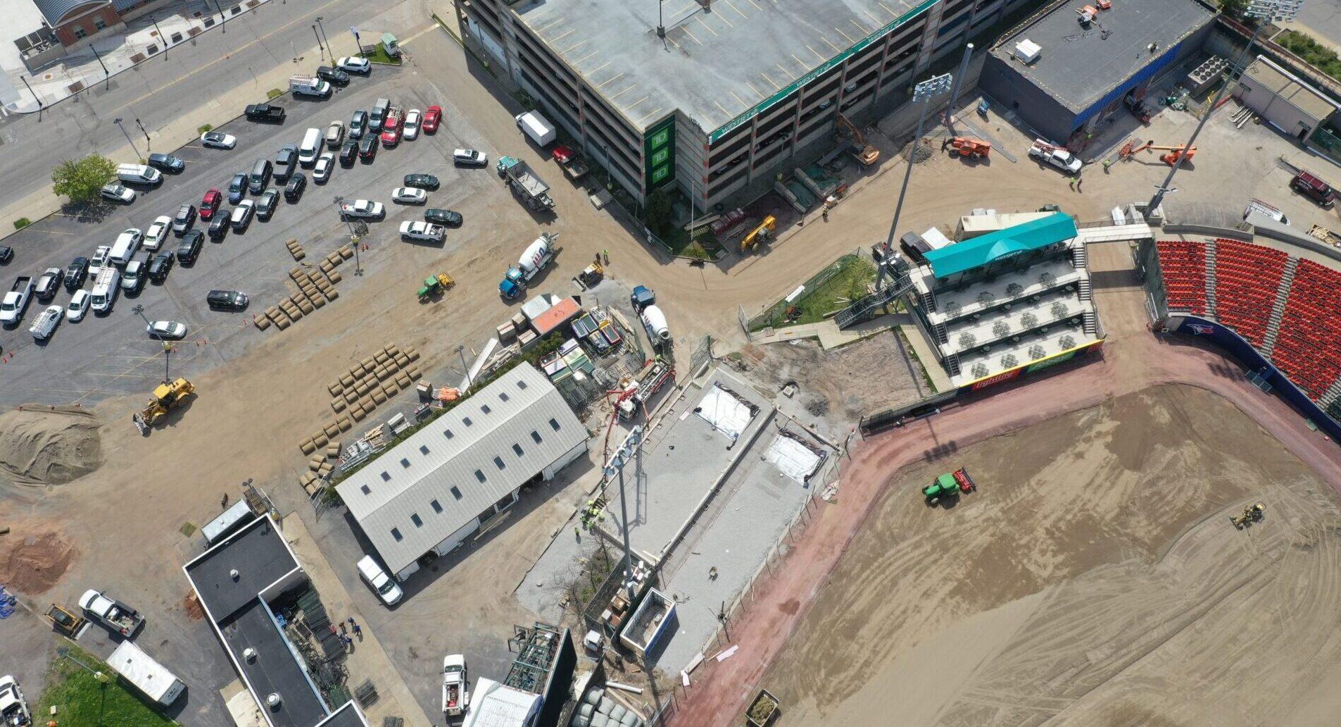 Bisons Sahlen Field Renovations Bullpens Progress Buffalo, NY
